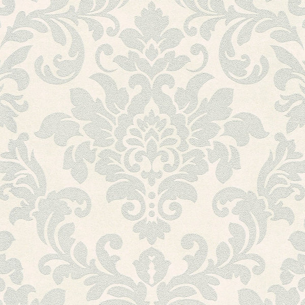 Diamonds damask glitter dark silver wallpaper - 372702