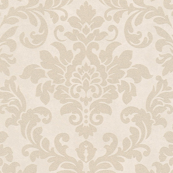 Diamonds damask cream glitter wallpaper - 372703