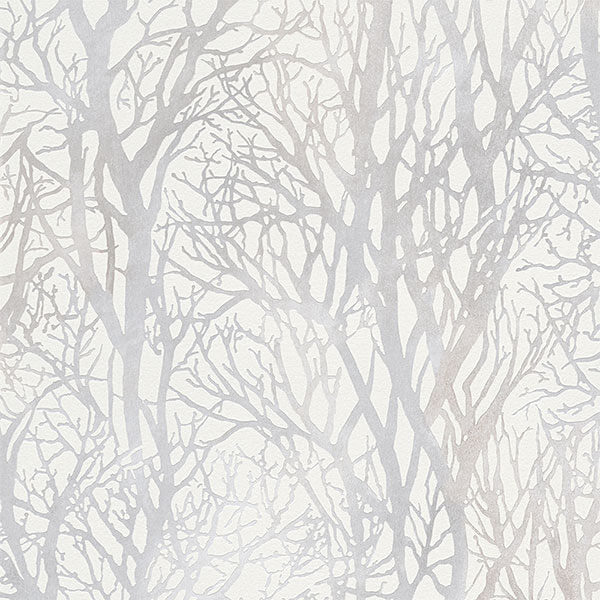 AS Creation Life white/silver forest wallpaper- 300941