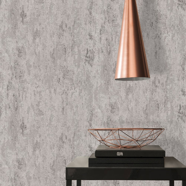 havanna industrial loft silver wallpaper - 326516