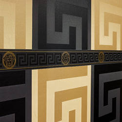 Versace Greek key Black wallpaper - 935234
