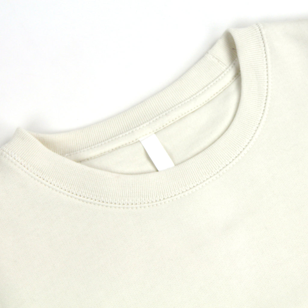 bs basics organic cotton crewneck sweatshirt - natural