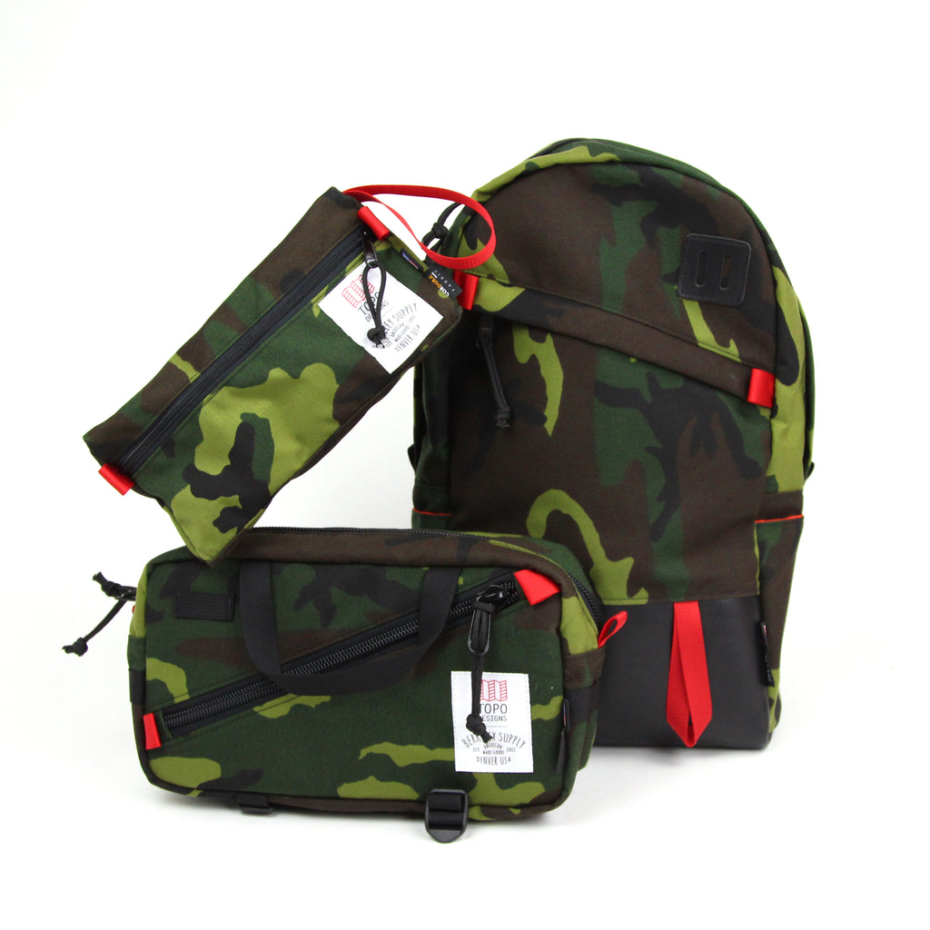 Topo Designs x Berkeley Supply - Woodland Camo Carry Kit