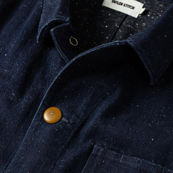 Taylor Stitch The Ojai Jacket in Indigo Herringbone