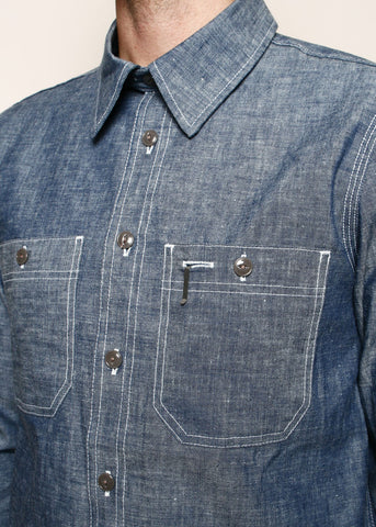 rogue territory - bm shirt - INDIGO CHAMBRAY SELVEDGE