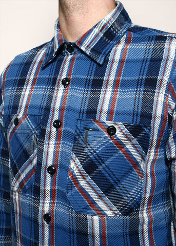 ROGUE TERRITORY - bm shirt - blue plaid