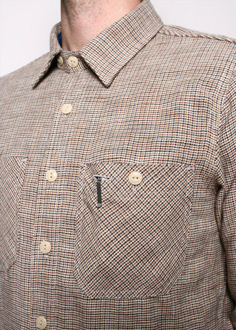 ROGUE TERRITORY - bm shirt - micro houndstooth