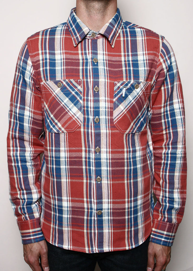ROGUE TERRITORY - bm shirt - FADED RED PLAID