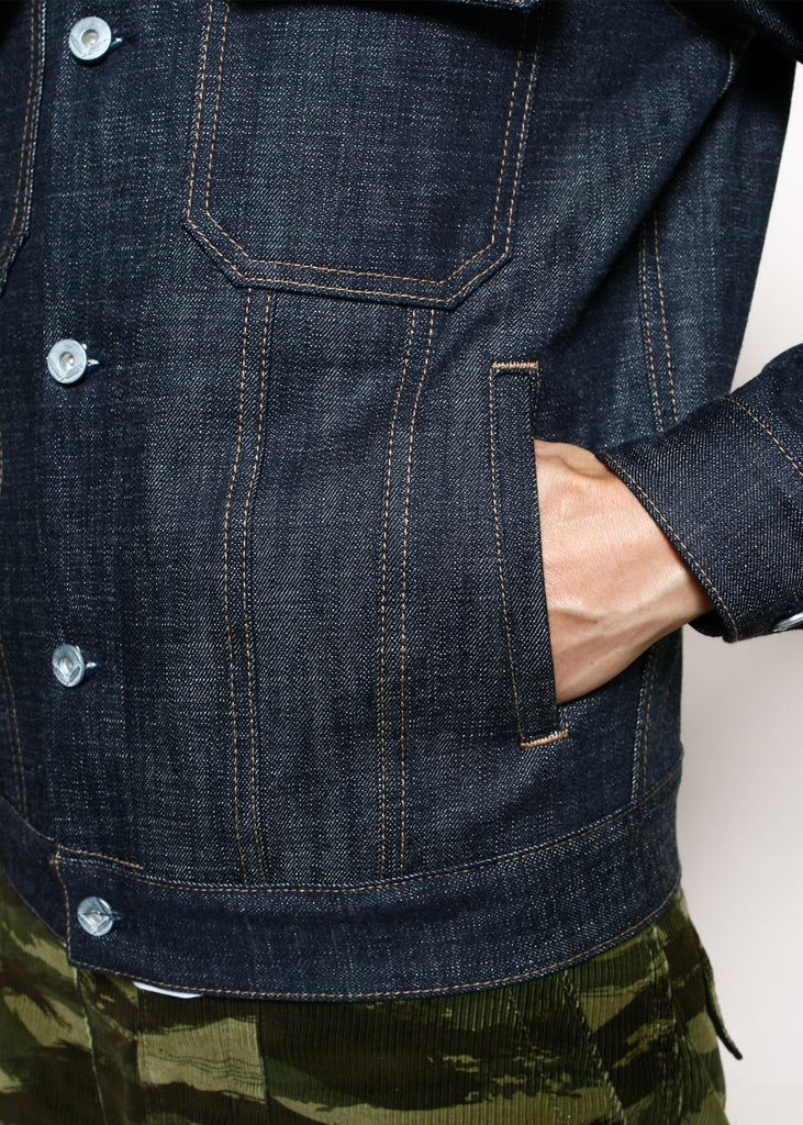 "Rogue Territory - Cruiser Jacket Indigo ""Loomstate"""