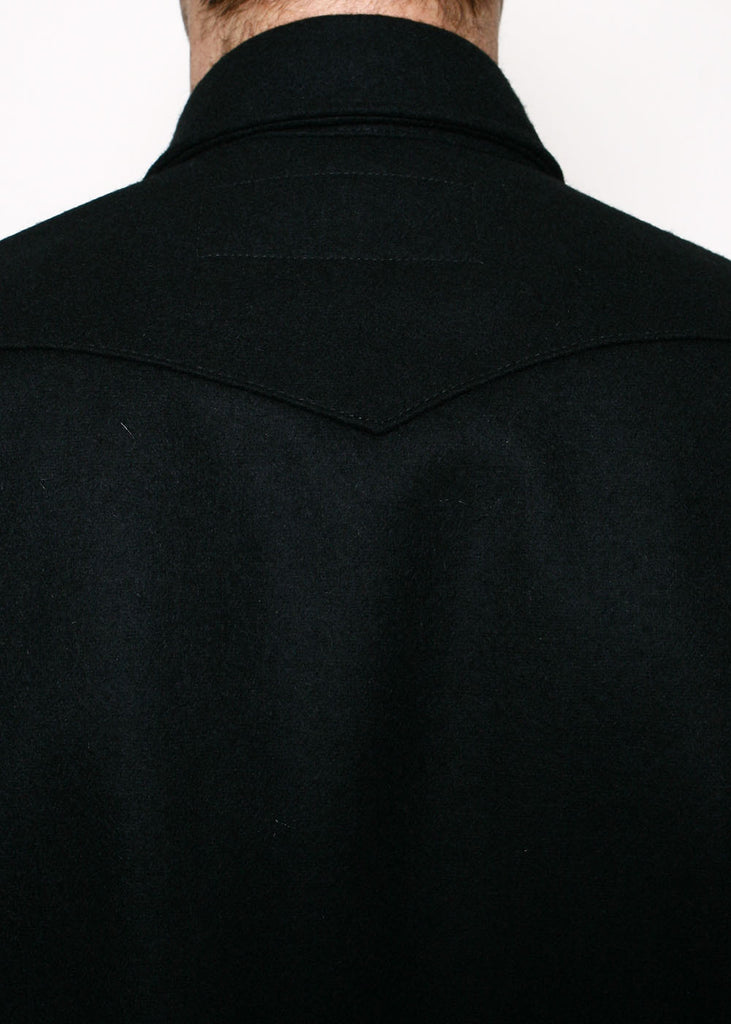 Rogue Territory - Melton Wool Western Service Shirt - Black