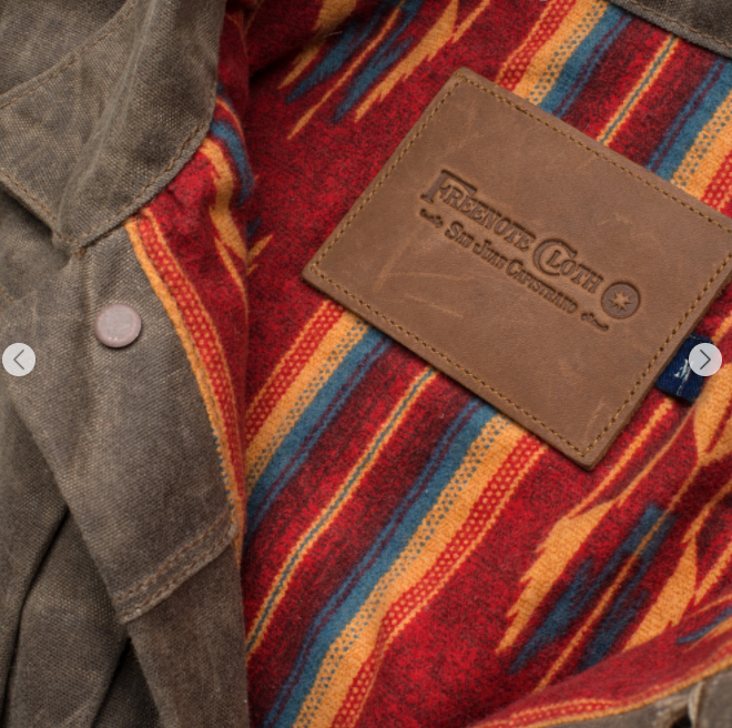 Freenote Cloth - RIDERS JACKET WAXED CANVAS - OAK