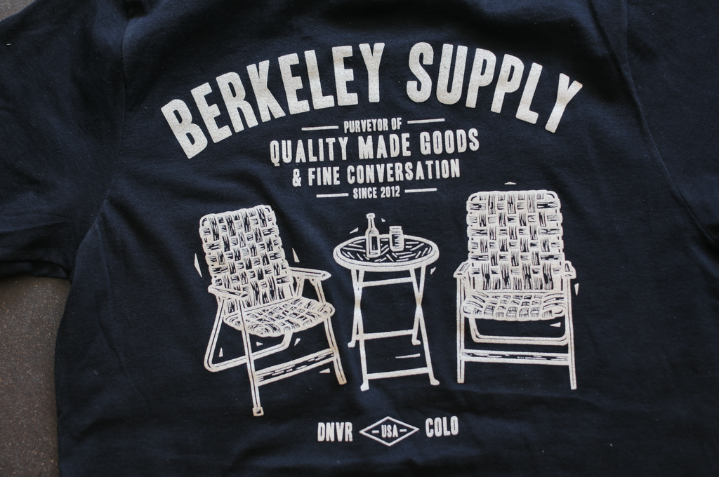 John Fellows for Berkeley Supply - Drinkin' T - Black with Cream