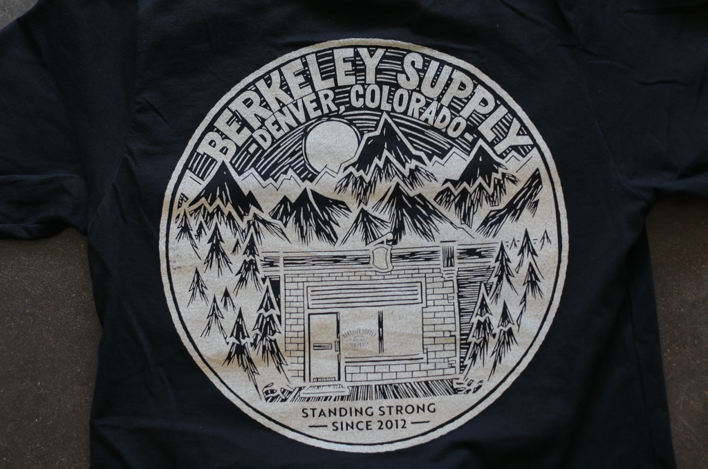 John Fellows for Berkeley Supply - Shop T - Black with Cream