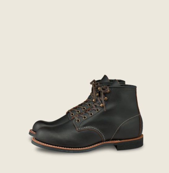 Red Wing Heritage - Heritage - 3345 BLACKSMITH MEN'S 6-INCH BOOT IN BLACK PRAIRIE LEATHER
