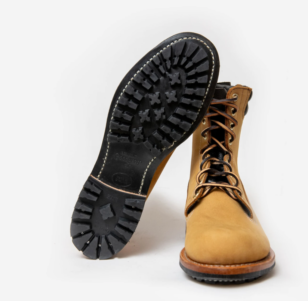 Viberg for 3Sixteen - Hunter Boot Wheat Nubuck