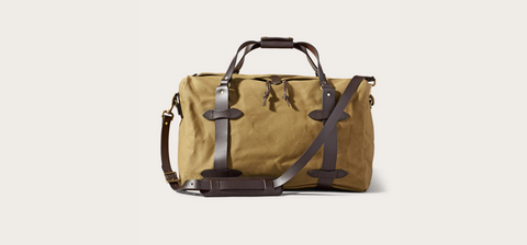 Filson - MEDIUM RUGGED TWILL DUFFLE BAG - Tan
