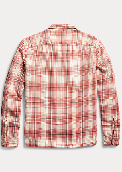 RRL - Plaid Twill Camp Shirt - Dusty Red