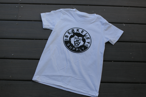 YOUTH ORGANIC SHORT SLEEVE TEE - Wolf - White