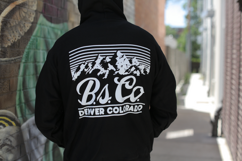 "BSCO - ""nod to golden"" - Champion Reverse Weave Pullover - Black"