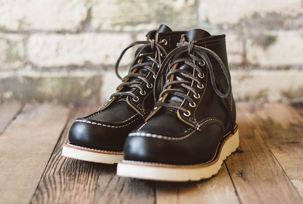 "Red Wing Heritage 6"" Moc Toe 9874 Irish Setter - Black Klondike"