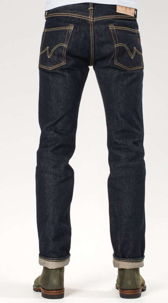 IRON HEART 21oz Selvedge Denim Super Slim Tapered Jeans - Indigo