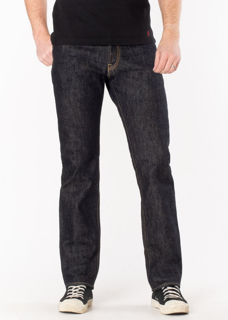 IRON HEART -888 - 21oz Selvedge Denim Medium/High Rise Tapered Cut Jeans - Indigo