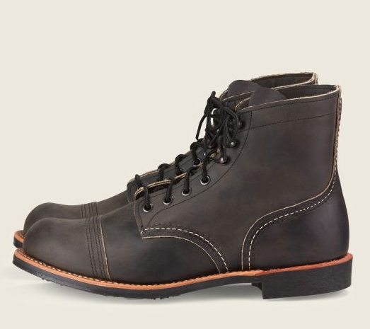 REDWING IRON RANGER MEN'S 6-INCH BOOT IN CHARCOAL ROUGH & TOUGH  #8086