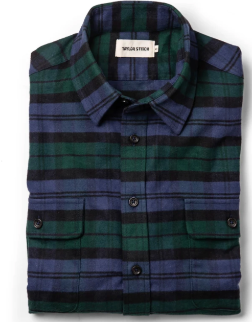 TAYLOR STITCH- The Yosemite Shirt in Blackwatch Plaid