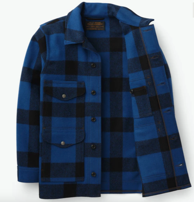 FILSON- Mackinaw Wool Cruiser Jacket- Blue Plaid