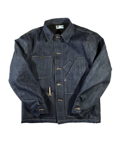 Tellason Sherpa Lined Coverall Denim Jacket - 14.75oz