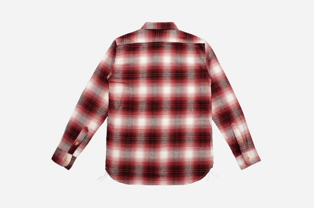 3Sixteen - Utility Shirt - Red Brushed Flannel
