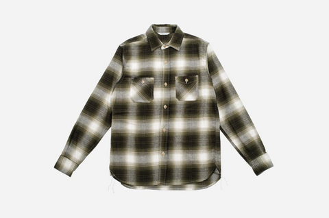 3Sixteen - Utility Shirt - Moss Brushed Flannel
