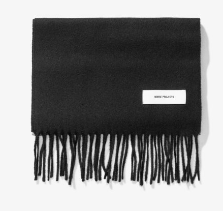 Norse Projects Lambswool Scarf BLK and GRY