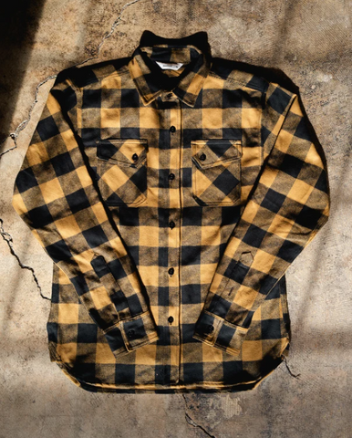 3SIXTEEN Drunk Check Crosscut Flannel BLK/BRWN