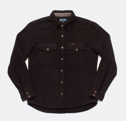 IRON HEART Micro Fleece C.P.O Shirt - Black