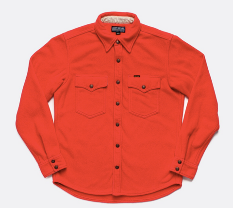 IRON HEART Micro Fleece C.P.O Shirt - Red