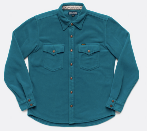 IRON HEART Micro Fleece C.P.O Shirt - Turquoise