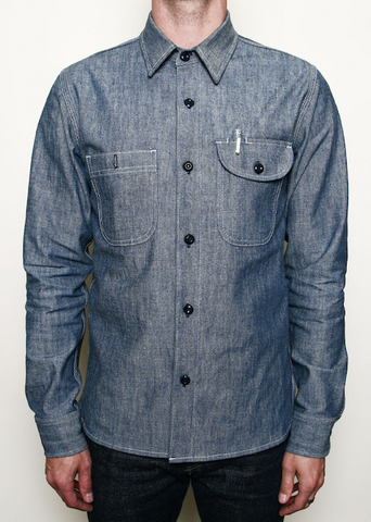 ROGUE TERRITORY- Work Shirt Light Indigo Canvas