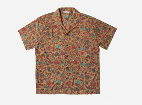 3sixteen Floral Leisure Shirt-Sand