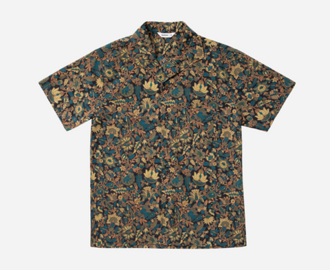 3sixteen Floral Leisure Shirt- Black