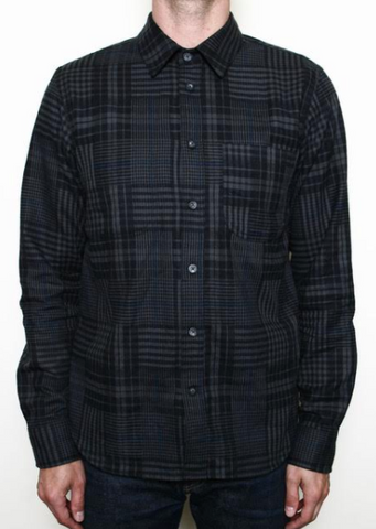 Rogue Territory-Jumper Shirt Dark Grey Abstract Plaid