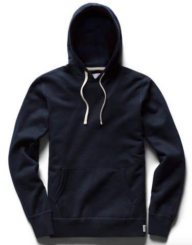 Midweight Terry Pullover Hoodie - Navy