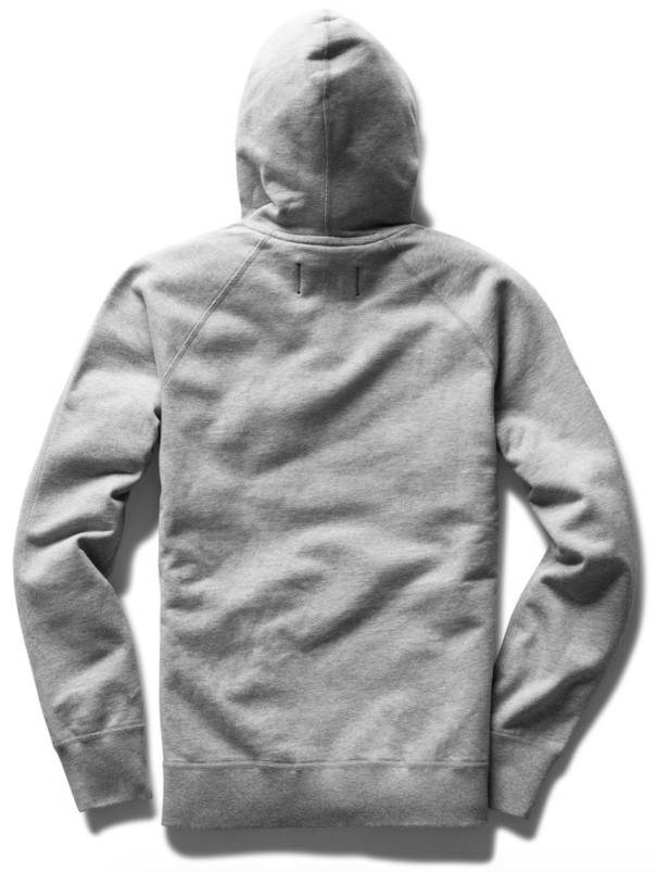 reigning champ midweight terry pullover hoodie - heather grey