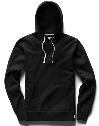 Midweight Terry Pullover Hoodie - Black