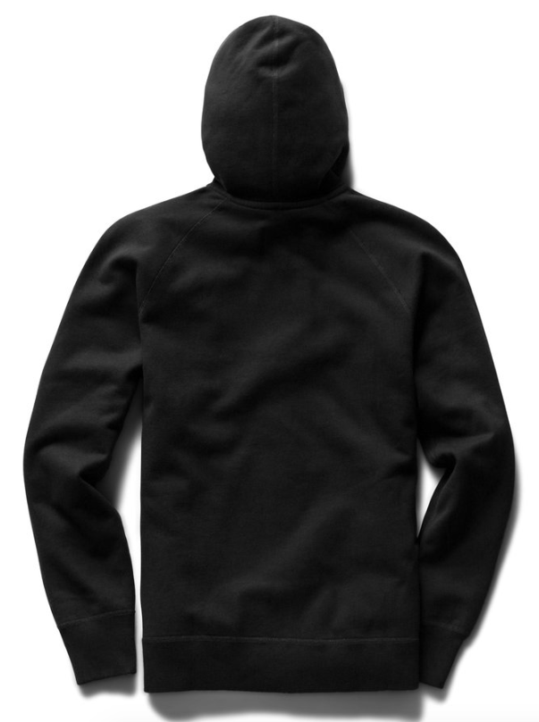 reigning champ midweight terry pullover hoodie - black