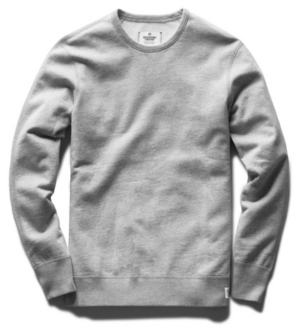 Midweight Terry Crewneck - Heather Grey