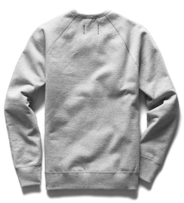 Reigning Champ Midweight Terry Crewneck - Heather Grey