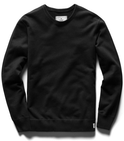 Midweight Terry Crewneck - Black