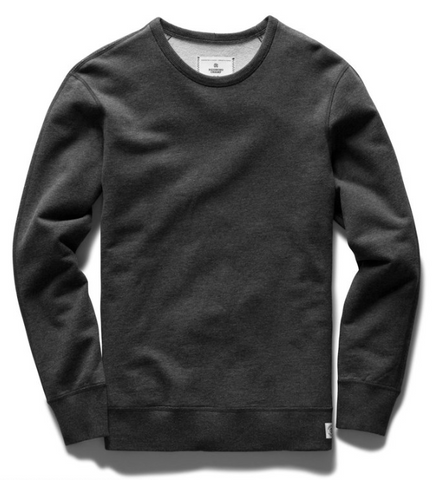 Midweight Terry Crewneck - Heather Charcoal