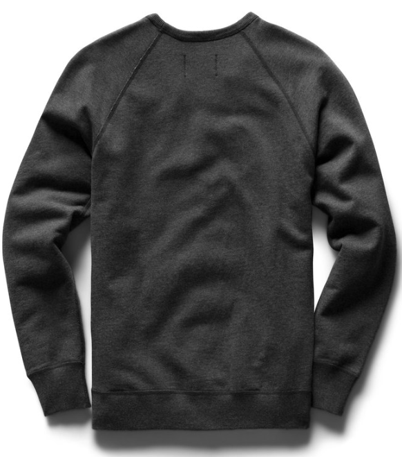 reigning champ midweight terry crewneck - heather charcoal